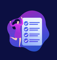 Completed task or to do list vector