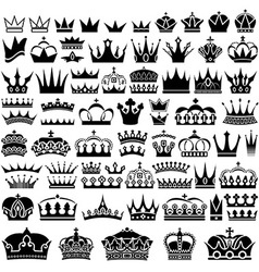 Crown Design Set vector image