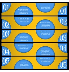 Design template with circles vector