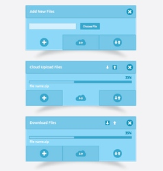 Download upload and cloud download upload UI vector