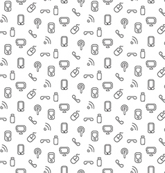 Electronics and mobile pattern seamless vector image