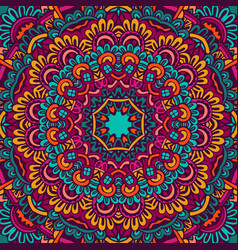 Festive seamless pattern doodle mandala vector