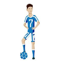 football player character showing actions vector image