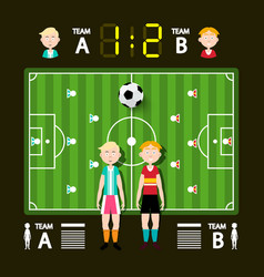 football - soccer infographic template vector image