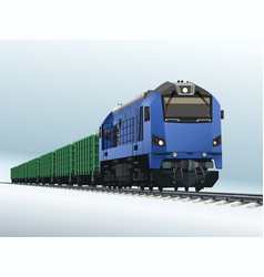 freight train vector image
