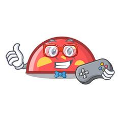 gamer semicircle mascot cartoon style vector image