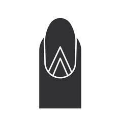 Geometric moon manicure glyph icon vector