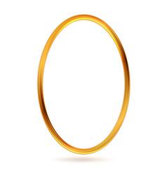 Golden ellipse framework abstract background vector