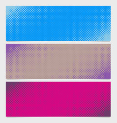 Halftone dot pattern horizontal banner - graphic vector