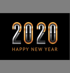 Happy new year greeting card design 2020 vector