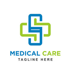 health logo with initials s vector image