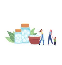 herbal pharmacist or alternative medicine doctor vector image