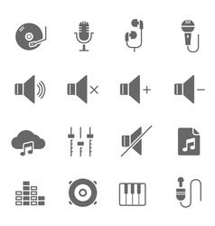Icon set - audio controller vector image
