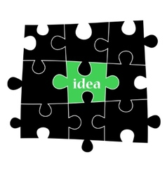 Idea puzzle background vector image