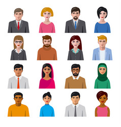 international avatars icons vector image