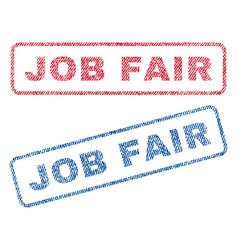Job fair textile stamps vector