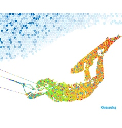 Kiteboarding mosaic vector