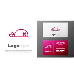 Logotype line pirate bandana for head icon vector