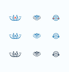 medical icon template vector image