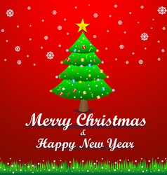 merry christmas and the happy new year vector image
