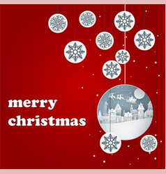 Merry christmas background with red background vector