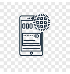 mobile web concept linear icon isolated on vector image