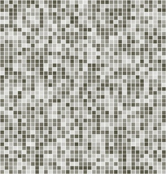 Monochrome square mosaic background vector image
