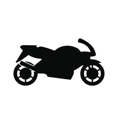 Motorcycle black simple icon vector image