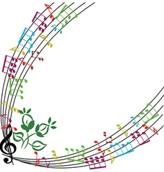 Music notes background stylish musical theme frame vector