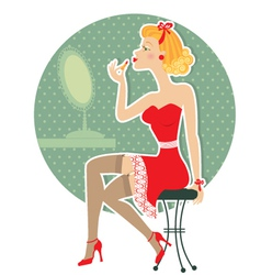 pin up girl style vector image vector image