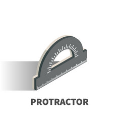 protractor icon symbol vector image