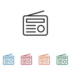 radio icon vector image