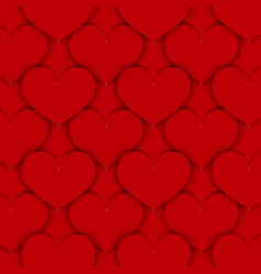 red paper hearts background vector image