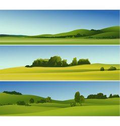 Rural landscape banners vector
