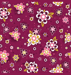 seamless pattern with decorative flowers seamless vector image