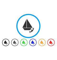 Seaport rounded icon vector