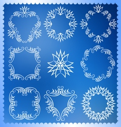 Set of christmas frames monogram design elements vector