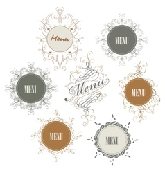 Set of sign with menu inscription vector