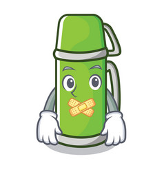 Silent thermos character cartoon style vector
