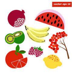 Simple fruit set vector