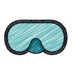 Snorkel googles diving isolated icon vector