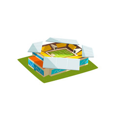 soccer or football stadium building outdoor vector image