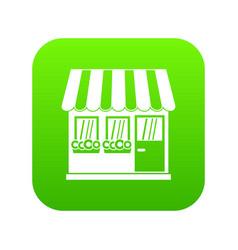 store icon digital green vector image