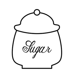 Sugar pot isolated icon design vector
