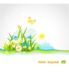 Summer natural background vector image