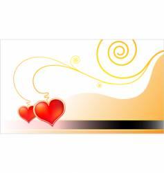 template golden valentine card vector image