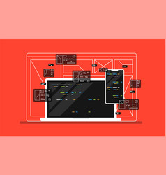 web development programming vector image