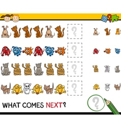 what comes next game cartoon vector image
