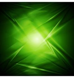 Abstract green wavy design vector image