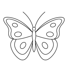 Aphantopus butterfly icon outline style vector image